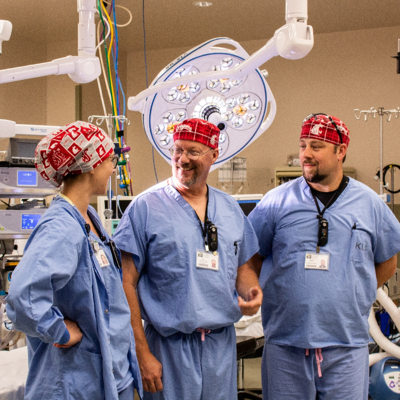Operating Room Staff with WSU Caps-1